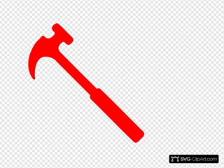 Red Hammer SVG Clipart