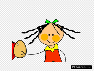 Doll Red Hen Clipart
