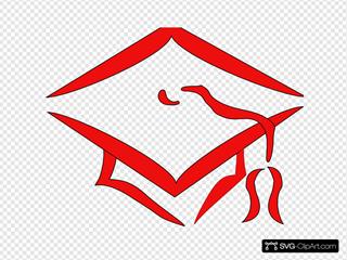 Red Mortarboard Graduation