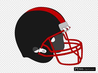 Football Helmet Red And Black