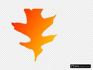 Oak Red Orange Leaf