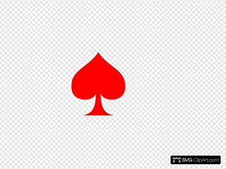 Red Spade Ace
