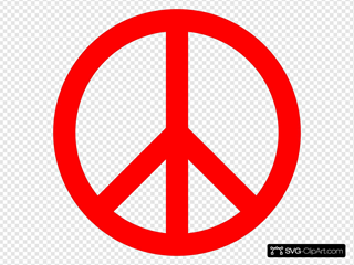 Red Peace Sign