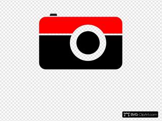 Camera Black Red