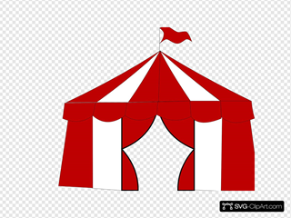 Blue Circus Tent. Clipart