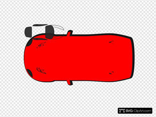 Red Car - Top View - 180