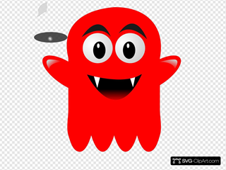 Red Glossy Ghost