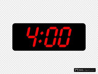 4:00 Clipart
