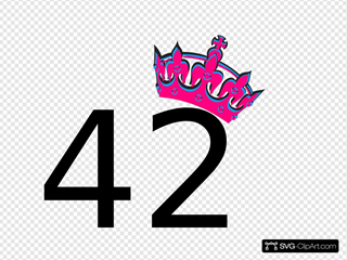 Pink Tilted Tiara And Number 42