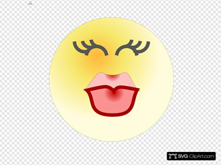 Face Kiss Clipart