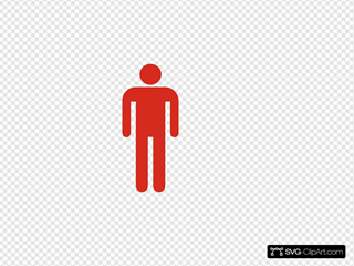Man Silhouette Red
