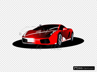 Red Lambo Clip Art Icon And Svg Svg Clipart
