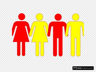 Men Women Holding Hands