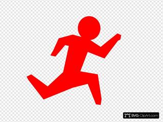 Running Man - Red
