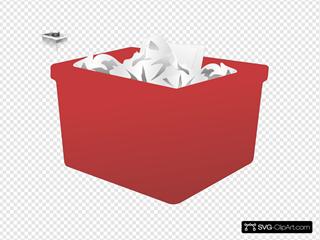 Red Plastic Bin