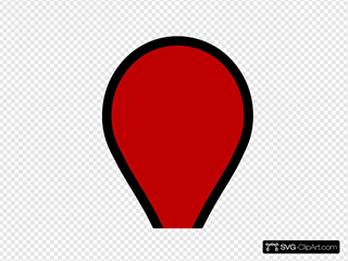 White Google Map Pin SVG Clipart