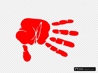 Hand Print Red