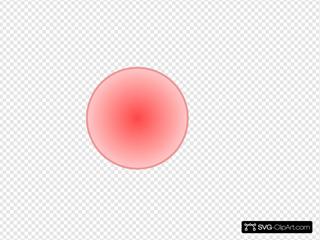 3d Light Red Ball