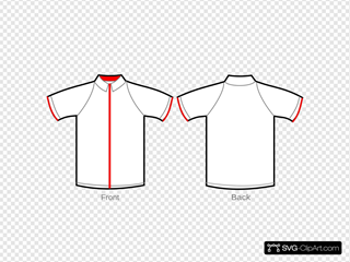 Shirt White With Red Zipper