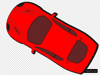 Red Car - Top View - 150