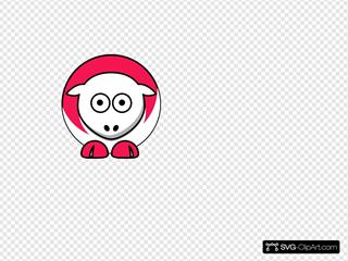 Sheep - Pinkish Red