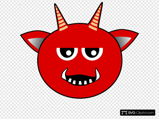 Red Devil Head Cartoon