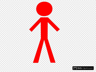Red Stick Figure