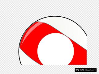 Red Stripe Billiard Ball