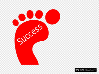 Red Footprint Success SVG icons