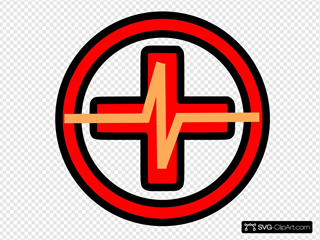 Red Cross With Pulse
