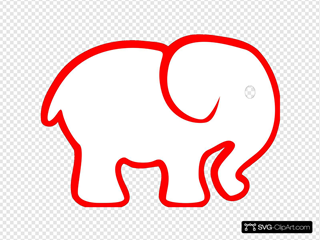 Red And Black Elephant