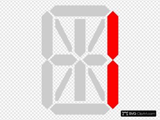 14 Segment Display SVG Clipart