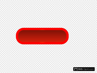 Red Rounded Rectangle Button, Yellow Border SVG Clipart
