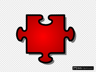 Jigsaw Red Puzzle Piece 1