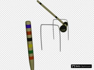 Croquet Peg Hammer Clipart