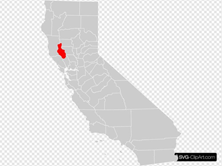 California County Map Lake County Highlighted