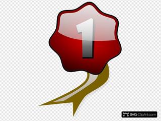 Number 1 Winner Ribbon Award Badge, Gold Medal Stock Vector - Illustration  of champ, graphic: 139155753