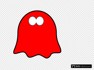 Friendly Red Ghost, Wavy Base