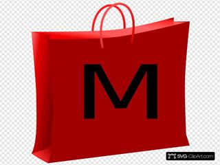 Red Bag For Shopping. Bolsa Roja De Compras.