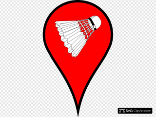 Map Pin Red Badminton