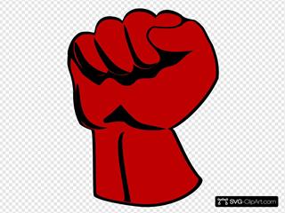 Raised Fist Clipart