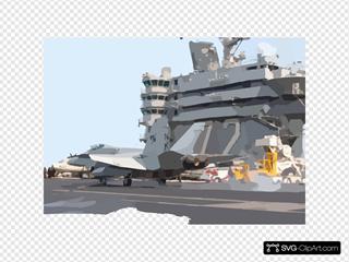 Hornet Makes An Arrested Landing On The Flight Deck