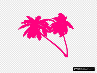 Double Pink Palm Trees
