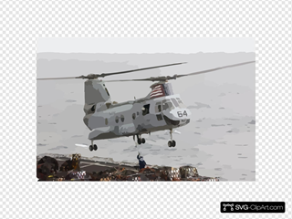 A Ch-46  Sea Knight  Helicopter