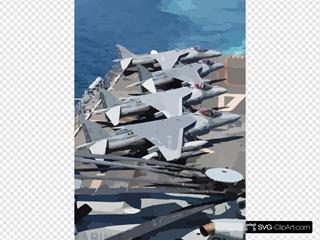 Av-8b Harrier Strike Aircraft Aboard Uss Nassau.