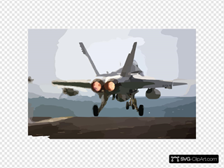 Hornet Launches From The Flight Deck On A Christmas Morning Mission SVG Clipart