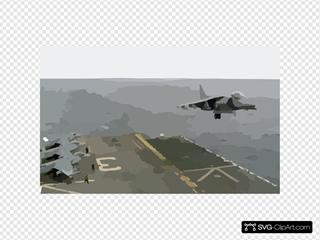 Uss Belleau Wood - Av-8b Landing