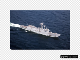 N Aerial View Of The U.s. Navy Guided Missile Frigate Uss Rueben James (ffg 57).