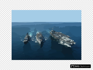 The Guided Missile Cruiser Uss Gettysburg (cg-64) And Nuclear Powered Aircraft Carrier Uss Enterprise