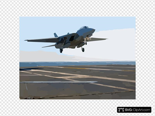 An F-14d  Tomcat  From The  Black Lions  Of Fighter Squadron Two One Three (vf-213) Lands On The Ship S Flight Deck After A Training Mission.